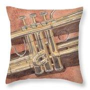Trumpet Throw Pillow