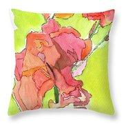 Trumpet Vine Blossom Throw Pillow