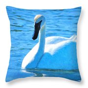 Trumpeter Swan Impressions Throw Pillow