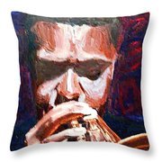 Trumpeters Throw Pillow