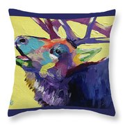 Trumpeting Throw Pillow