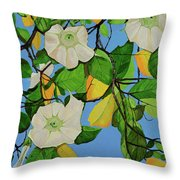 Trumpets In Paradise Throw Pillow