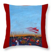 Trumpets Of The Mediterranean Throw Pillow