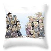 Trumpettes Horror Throw Pillow