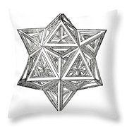 Truncated And Elevated Hexahedron With Open Faces Throw Pillow