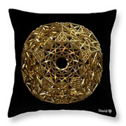 Truncated Hyper Dodecahedron Throw Pillow