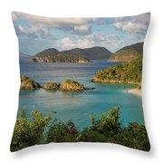 Trunk Bay Morning Throw Pillow