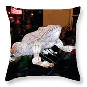 Truro Lantern Parade Frog Throw Pillow