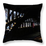 Trusses And Light  Throw Pillow
