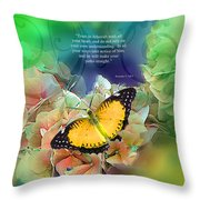 Trust And Life Throw Pillow