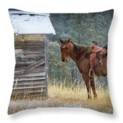 Trusty Horse  Throw Pillow
