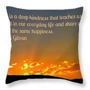 Truth And Happiness Throw Pillow