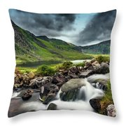 Tryfan And Ogwen Lake Throw Pillow