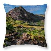 Tryfan Mountain Valley Throw Pillow