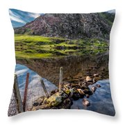Tryfan Reflections Throw Pillow