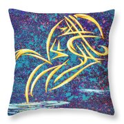 Trying New Waters Throw Pillow