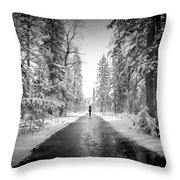 Trying To Escape The Snow Throw Pillow