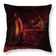 Tsar Boris And The Queen Martha Throw Pillow