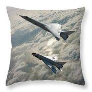 Tsr.2 Advanced Bomber And Lightning Interceptor Throw Pillow