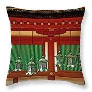 Tsuri-do-ro Or Hanging Lantern #0807-1 Throw Pillow