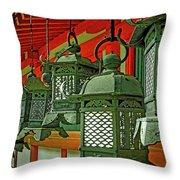 Tsuri-do-ro Or Hanging Lantern #0807-2 Throw Pillow