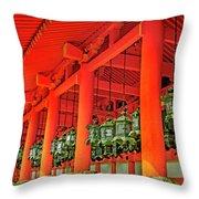 Tsuri-do-ro Or Hanging Lantern #0807-4 Throw Pillow