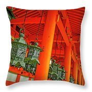 Tsuri-do-ro Or Hanging Lantern #0807-5 Throw Pillow