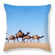 Tuareg Journey Across The Desert Throw Pillow