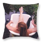 Tub 001 Throw Pillow