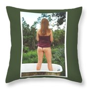 Tub 076 Throw Pillow