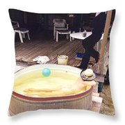 Tub 323 Throw Pillow