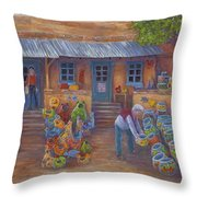 Tubac Pottery Shop Throw Pillow
