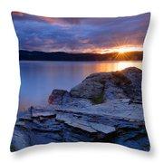 Tubbs Hill Sunset Throw Pillow