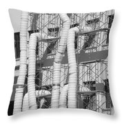 Tube Construction Throw Pillow