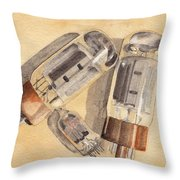 Tubes Throw Pillow