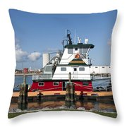 Tuboat Indian River Throw Pillow