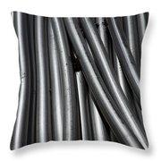 Tubular Abstract Art Number 1 Throw Pillow