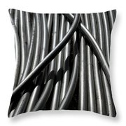 Tubular Abstract Art Number 13 Throw Pillow