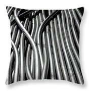 Tubular Abstract Art Number 15 Throw Pillow