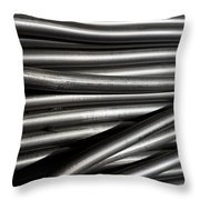 Tubular Abstract Art Number 2 Throw Pillow