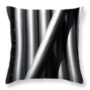 Tubular Abstract Art  Number 5 Shadow And Light  Throw Pillow
