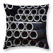 Tubular Abstract Art Number 7 Throw Pillow