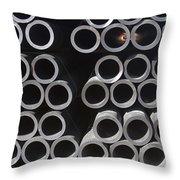 Tubular Abstract Art Number 9 Throw Pillow