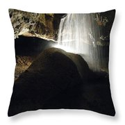 Tuckaleechee Cavern Waterfall Throw Pillow