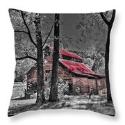 Tucked In Throw Pillow by Debra and Dave Vanderlaan