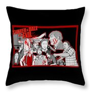 Tucker And Dale Vs. Evil Throw Pillow by Gary Niles