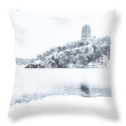Tucker's Tower In Winter Throw Pillow