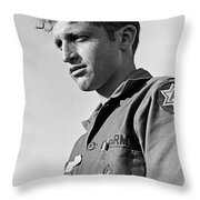 Tucson Arizona Army Reservist Taking Part In Summer Camp Exercise Death Valley  Ca 1968 Throw Pillow