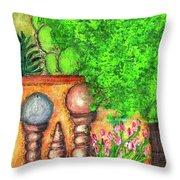 Tucson Garden Throw Pillow by Kim Nelson