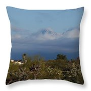Tucson In Winter Throw Pillow